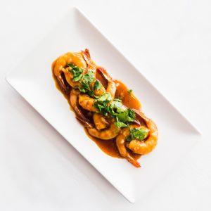 Langostinos sukiyaki restaurante asiatico Alicante
