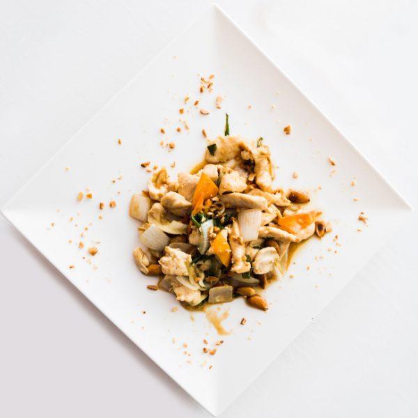 Pollo con almedras restaurante asiatico Alicante